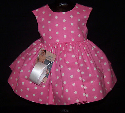 "Pink Dots Dress for 22"" Saucy Walker or Smilar Dolls ""Simply Saucy"" Series"
