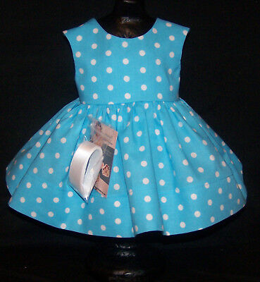 "Blue Dots Dress for 22"" Saucy Walker or Smilar Dolls ""Simply Saucy"" Series"