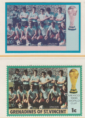 St Vincent Grenadines 5505 - 1986 WORLD CUP FOOTBALL 1c CROMALIN PROOF