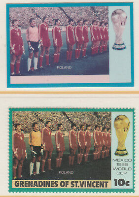 St Vincent Grenadines 5506 - 1986 WORLD CUP FOOTBALL 10c CROMALIN PROOF