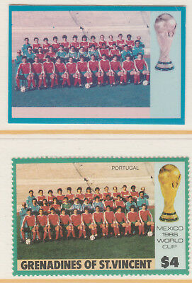 St Vincent Grenadines 5507 - 1986 WORLD CUP FOOTBALL $4 CROMALIN PROOF