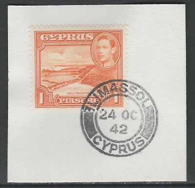 Cyprus 5515 - 1938 KG6 1pi on piece with MADAME JOSEPH FORGED POSTMARK