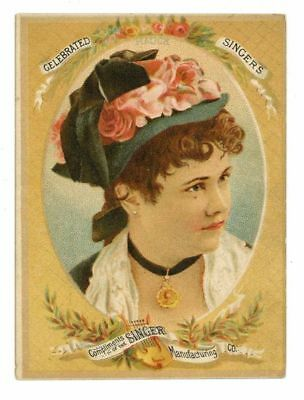 SINGER MANUFACTURING CO, Victorian Trade Card, 283, Sewing machine