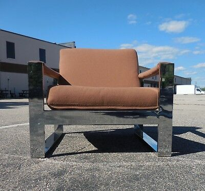 Milo Baughman for Thayer Coggin 'Tank' Lounge Chair | Mid Century Modern | Pop