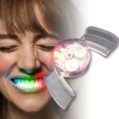 LED Luminous Tooth Socket Dentures Devil Teeth Halloween Accessory Pretty