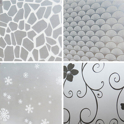 200*60cm Fashion PVC Glass Window Privacy Film Stickers Frosted DIY Decoration