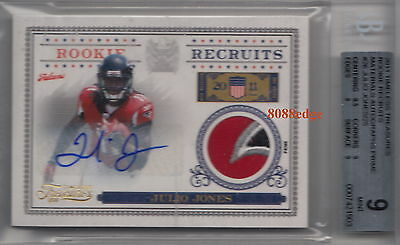 2011 Timeless Treasures Rookie Patch Auto Rc #26-Julio Jones #8/25 Autograph Bgs