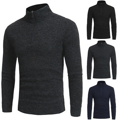 Autumn Men's Casual Turtleneck Pullover Knitted Sweater Slim Fit Knitwear Jumper