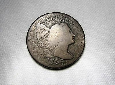 1796 Liberty Cap Large Cent Very Good Details Estate Coin Ab7