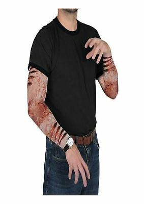 Adult Mens Zombie Sleeves Bite Party Halloween Horror Fancy Dress Accessory