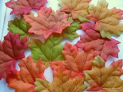 100 Quality Multi  Autumn/maple Leaf Uk Seller  Wedding/crafts Decor/costume