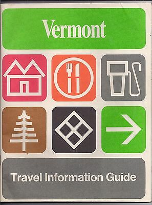 1969 VERMONT Travel Information Guide COUNTY MAPS General Advertising