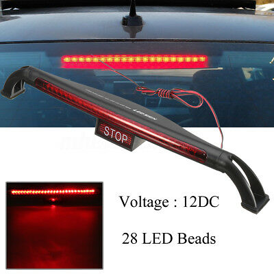 Universal 28 LED Car Third 3RD Rear Tail Light High Mount Stop Brake Lamp Red DC