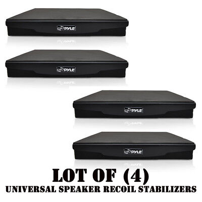 Lot of (4) Pyle PSI06 Acoustic Sound Isolation Recoil Stabilizers Speaker Riser