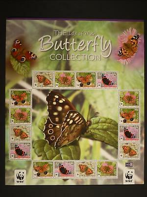 Isle Of Man - 2011 Butterfly Collection Sheetlet Mnh Sg.ms1656  (Ref.b1)