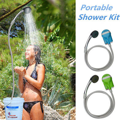 USB Rechargeable Shower Showerhead Water Pump Camping Travel Battery Powered