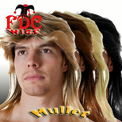 Mullet Fdc Wig Football Manager 70S 80S Soft Rock Heavy Metal Bon Jovi