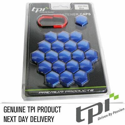 TPi 20 Blue Alloy Wheel Nut Bolt Covers 17mm