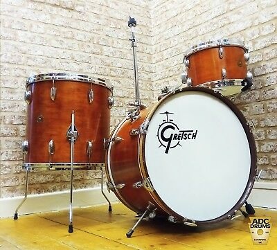 Vintage 1960s Gretsch Round Badge Name Band Outfit Drum Kit