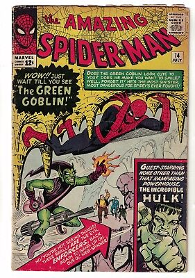 Marvel Comics Spiderman 14 1st Appearance Green Goblin Norman osborn VG 4.0