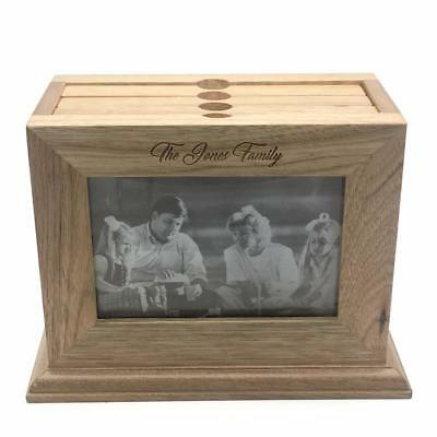 Personalised Wooden Photo Box - 72 Photo Album and 6x4 Photo Frame FW978-P