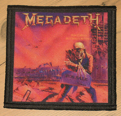 """MEGADETH """"PEACE SELLS...BUT WHO'S BUYING?"""" silk screen PATCH"""