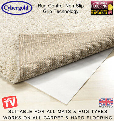 Rug Mat Carpet Control Anti Non Slip Grip On All Floor Types Pre Cut *All Sizes*