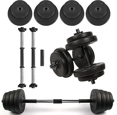 20kg Dumbbell Set Bar Dumbbells Home Gym Fitness Free Weights Barbell Bar