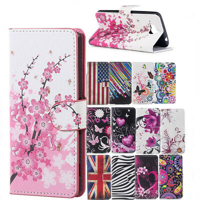 Classic Patterned Wallet Flip PU Leather Stand Cover Case For Huawei Y5 2017
