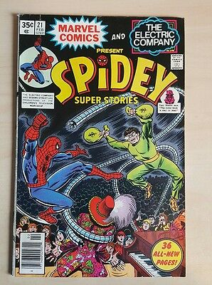 Spidey Super Stories #21 VF+  Bronze Age Comic Uncurculated