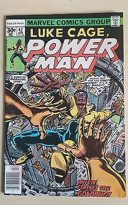 Luke Cage Power Man #42 VF Bronze Age Comic Uncurculated