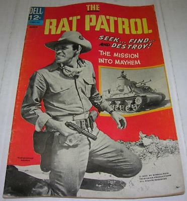 RAT PATROL #1 (Dell 1967) Christopher George photo cover (VG) ABC TV series