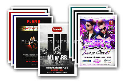 PLAN B  - 10 promotional posters - collectable postcard set # 1