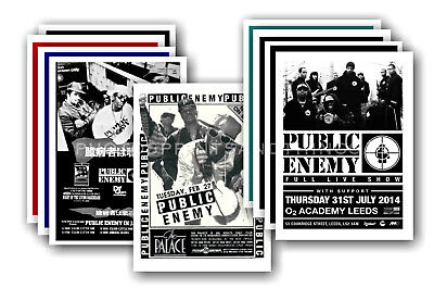 PUBLIC ENEMY - 10 promotional posters - collectable postcard set # 1