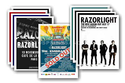RAZORLIGHT - 10 promotional posters - collectable postcard set # 1
