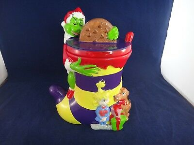 Dr Seuss How the Grinch Stole Christmas Stocking Cookie Jar