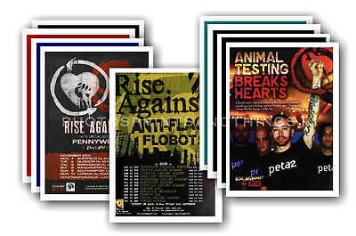 RISE AGAINST - 10 promotional posters - collectable postcard set # 1