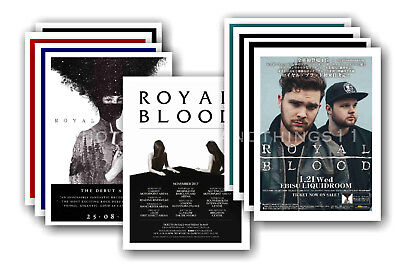 ROYAL BLOOD - 10 promotional posters - collectable postcard set # 1