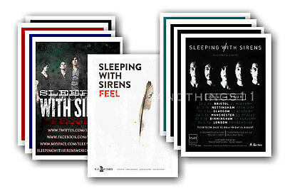 SLEEPING WITH SIRENS - 10 promotional posters - collectable postcard set # 1