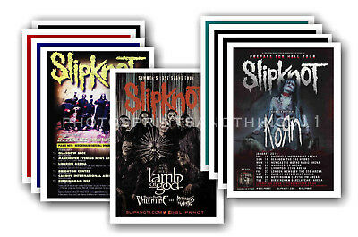 SLIPKNOT - 10 promotional posters - collectable postcard set # 2