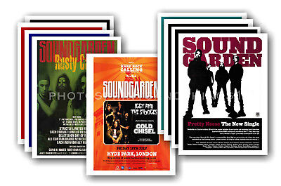 SOUNDGARDEN - 10 promotional posters - collectable postcard set # 2