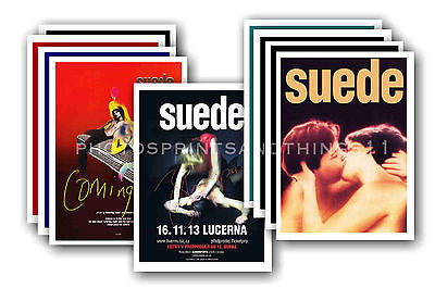SUEDE - 10 promotional posters - collectable postcard set # 1
