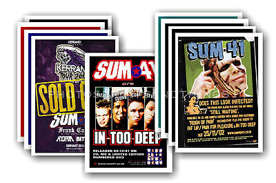 SUM 41 - 10 promotional posters - collectable postcard set # 1