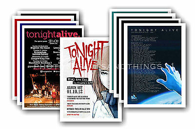 TONIGHT ALIVE - 10 promotional posters - collectable postcard set # 1