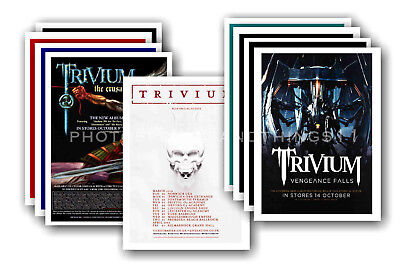 TRIVIUM - 10 promotional posters - collectable postcard set # 1
