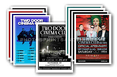 TWO DOOR CINEMA CLUB - 10 promotional posters - collectable postcard set # 1