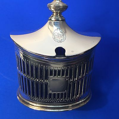 George Fox - 1905 - Solid Sterling Silver -Quality Antique English Mustard Pot