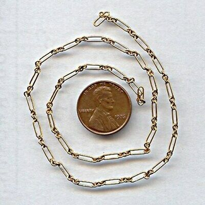 3 FEET VINTAGE SOLID BRASS 7x2mm. FANCY ELONGATED CABLE CHAIN CH58