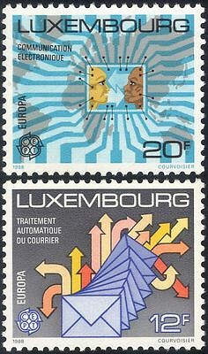 Luxembourg 1988 Europa/Communications/Letters/Computer/Map/Post 2v set (lu10107)