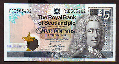 £5 Banknote for the 2014 RYDER CUP issued by THE ROYAL BANK